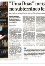 """Resenha do livro """"Uma Duas"""" publicada no caderno Ilustrada do jornal Folha de São Paulo"""