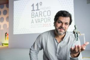 João Luiz Guimarães e o Prêmio Barco a Vapor 2015 (Divulgação)