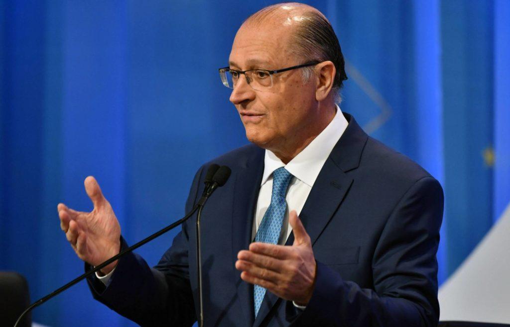 Candidato à Presidência, Geraldo Alckmin (PSDB), participa de debate na Rede TV. NELSON ALMEIDA AFP (Reprodução do El País)