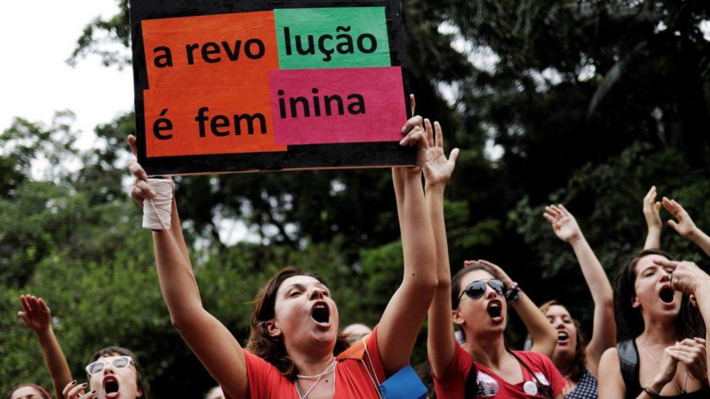 Manifestación feminista en Sao Paulo. NACHO DOCE (REUTERS/Reprodução El País)
