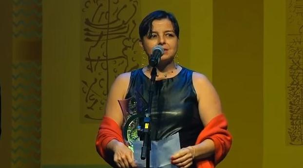 Carla Jimenez, diretora de redação do El País Brasil, na cerimônia de entrega do Prêmio Comunique-se