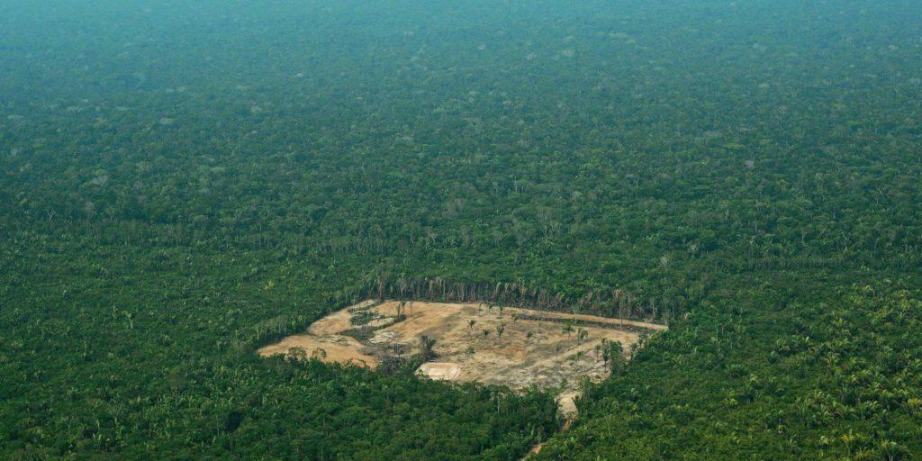 Imagem de área desmatada na Amazônia, em setembro de 2017. CARL DE SOUZA/AFP (Reprodução do El País)