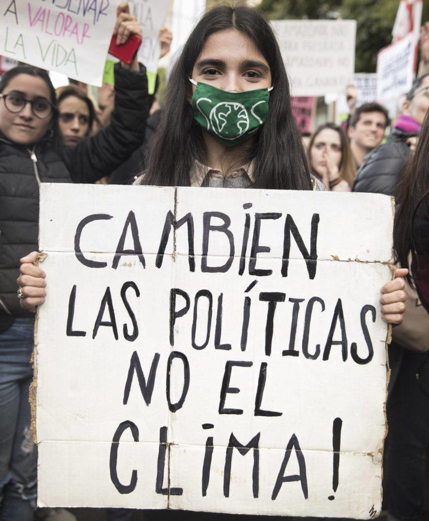 Julieta Itzcovich, representante de la rama argentina del movimiento Fridays for Future. (MARIANA ELIANO/ Reprodução do El País)