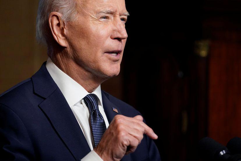 Presidente dos EUA, Joe Biden, nesta quarta-feira na Casa Branca/POOL / REUTERS (Reprodução do El País)