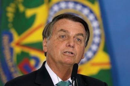 El presidente de Brasil, Jair Bolsonaro, este martes en el Palacio del Planalto en Brasilia, Brasil.UESLEI MARCELINO / REUTERS (Reprodução do El País)