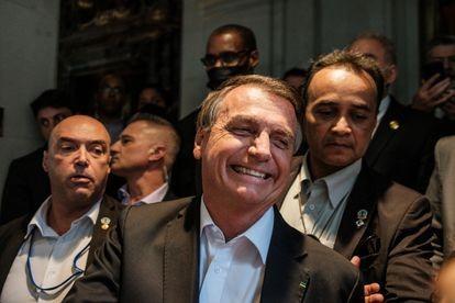 O presidente Jair Bolsonaro, em Nova York, no dia 21 de setembro. STEPHEN YANG / REUTERS (Reprodução do El País)